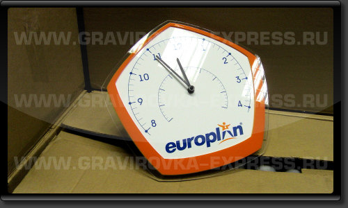 Стрелочные часы из пластика на заказ