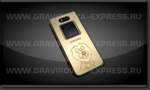 Мобильный телефон с логотипом