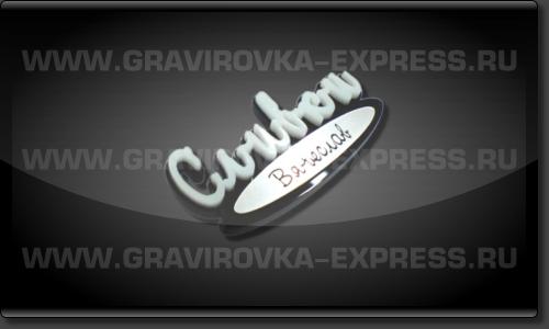 Бейдж индивидуальной формы с логотипом