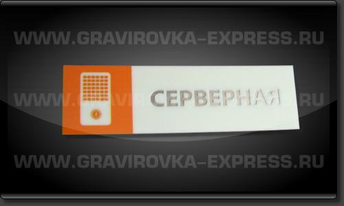 Табличка серверная