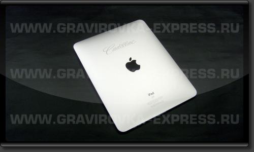 iPad с логотипом