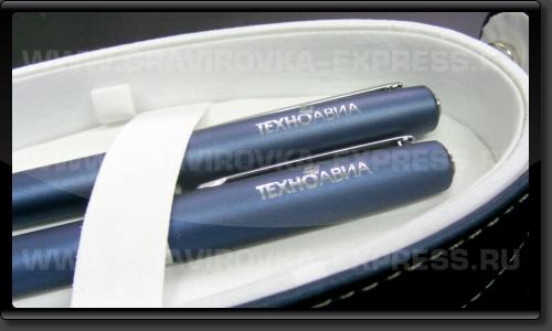 Лазерная гравировка металлической ручки