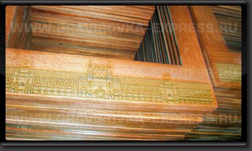 Элементы из дерева с гравировкой